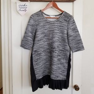 Anthropologie Clue + Willoughby Mixed Material Top